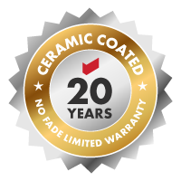 Ceramic Coated 20 Years No Fade Limited Warranty